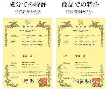 ラメリアプレミアム 特許